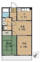 神奈川県相模原市緑区相原5丁目の賃貸マンションの間取り