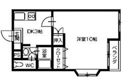 徳島県徳島市北沖洲3丁目の賃貸マンションの間取り