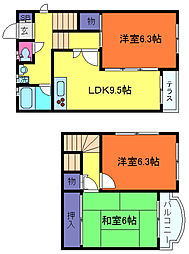 [一戸建] 兵庫県神戸市東灘区森北町4丁目 の賃貸【/】の間取り