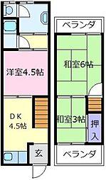 [一戸建] 大阪府堺市東区菩提町4丁 の賃貸【/】の間取り