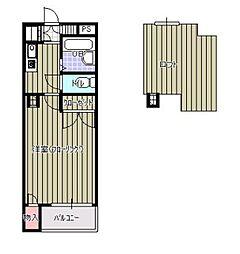 ジュネス飯倉[103号室]の間取り