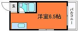 兵庫県神戸市灘区森後町2丁目の賃貸マンションの間取り
