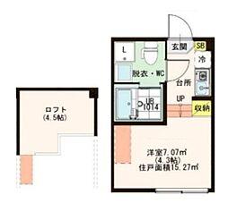 (仮称)江戸川1丁目コーポ[1階]の間取り
