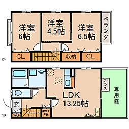 [テラスハウス] 滋賀県高島市城山台2丁目 の賃貸【/】の間取り