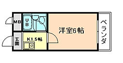 グレイスフル福島[6階]の間取り