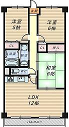 サンファースト京橋[1階]の間取り