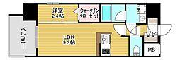 エンクレスト博多LEGEND[5階]の間取り