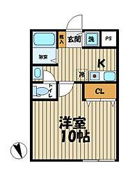 YAMASHIN・笛田[204号室]の間取り