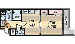 Krehl宿院[2階]の間取り