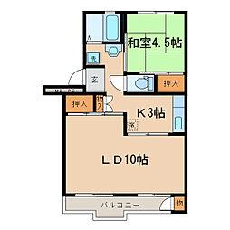 神奈川県横浜市保土ケ谷区新桜ケ丘1丁目の賃貸マンションの間取り
