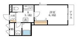 東京メトロ丸ノ内線 茗荷谷駅 徒歩6分の賃貸マンション 1階1Kの間取り