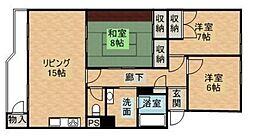 RKB別府マンション 1号棟[405号室]の間取り