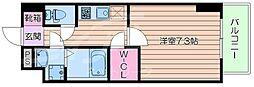 Osaka Metro御堂筋線 江坂駅 徒歩10分の賃貸マンション 7階1Kの間取り