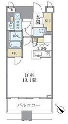 JR山手線 目黒駅 徒歩1分の賃貸マンション 5階ワンルームの間取り