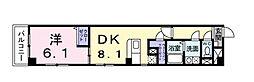一葉松PHASE・2 3階1LDKの間取り