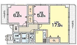 サンパティーク樟葉[4階]の間取り