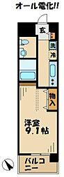 京王相模原線 京王多摩センター駅 徒歩8分の賃貸マンション 4階1Kの間取り