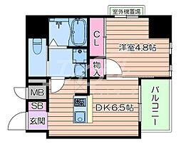 おおさか東線 南吹田駅 徒歩10分の賃貸マンション 10階1DKの間取り