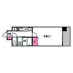 アービングNeo平野駅前 3階1Kの間取り