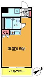 シティクレスト船橋[302号室]の間取り