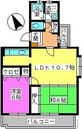 グレースマンション・ヤナセ[206号室]の間取り