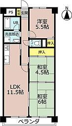 サニークレスト湘南八景1[6階]の間取り