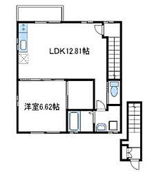 小田急小田原線 小田急相模原駅 徒歩5分の賃貸アパート 2階1LDKの間取り