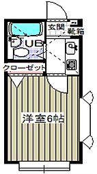 千葉県浦安市北栄4丁目の賃貸アパートの間取り