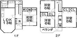 [一戸建] 大阪府枚方市菊丘町 の賃貸【/】の間取り