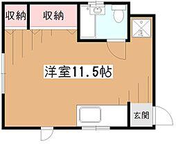 フラット45[2階]の間取り