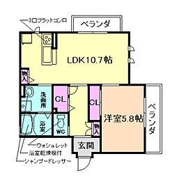 パークサイド白扇[2階]の間取り