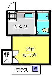 神奈川県横浜市瀬谷区本郷4丁目の賃貸アパートの間取り