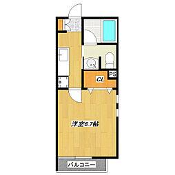 エルスタンザ平井[202号室]の間取り