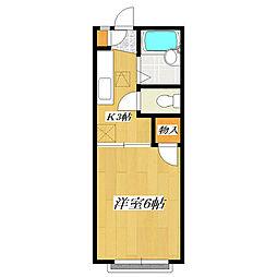 レーベンハイム[2階]の間取り