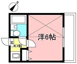 カーサパルI[1階]の間取り