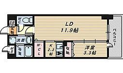 大阪府堺市堺区北三国ヶ丘町7丁の賃貸マンションの間取り