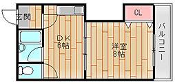 アレマーナ北加賀屋[5階]の間取り