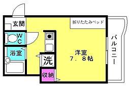 オリエンタルマンション1[301号室]の間取り