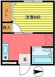 第56新井ビル[205号室]の間取り