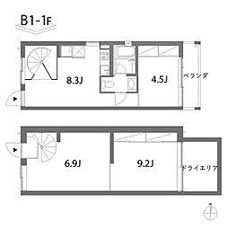 DUO(デュオ)[1階]の間取り