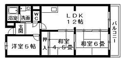 カランドリエ栗東[2階]の間取り