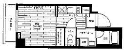 京王線 京王八王子駅 徒歩3分の賃貸マンション 4階1Kの間取り