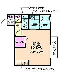 大阪府箕面市西小路5丁目の賃貸アパートの間取り