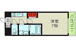 エスリード京橋アミュゼ 7階1Kの間取り