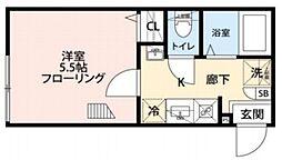 グランクオール板橋本町ウエストレジデンス 2階1Kの間取り