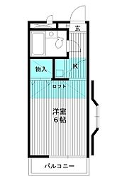 東京都練馬区向山4の賃貸アパートの間取り