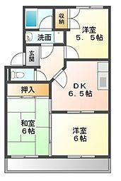 愛知県豊川市御油町青木前の賃貸アパートの間取り