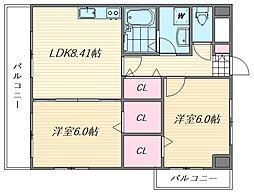 イーストフルハウス[10階]の間取り