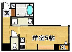Osaka Metro今里筋線 だいどう豊里駅 徒歩7分の賃貸マンション 1階ワンルームの間取り