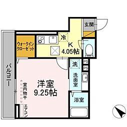 (仮称)-room幕張本郷3-4 1階1Kの間取り